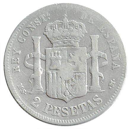 Espanha 2 Pesetas de 1880