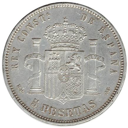Espanha 5 Pesetas de 1888