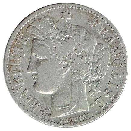 França 2 Francos de 1887