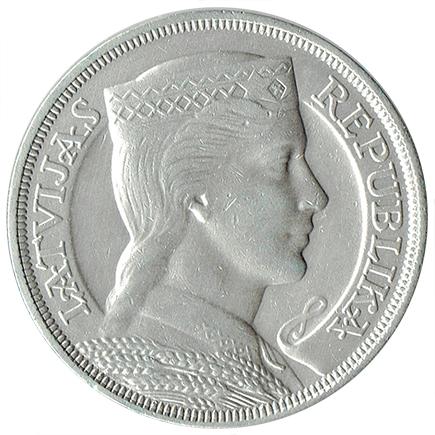 Letónia 5 Lati de 1931