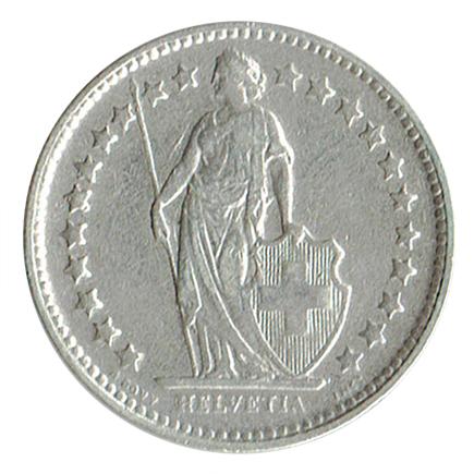 Suiça 1/2 Franco de 1920