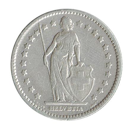 Suiça 1 Franco de 1920