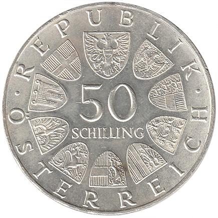 Aústria 50 Shillings de 1971