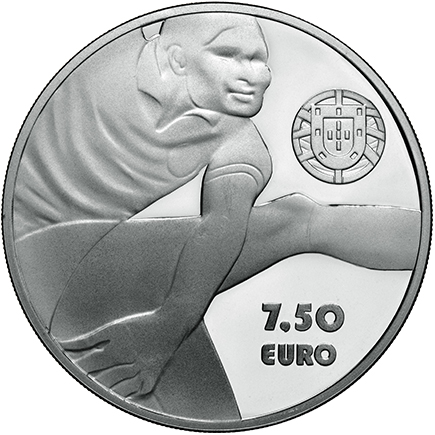 Portugal 7,50€ Eusébio Prata Proof 2016
