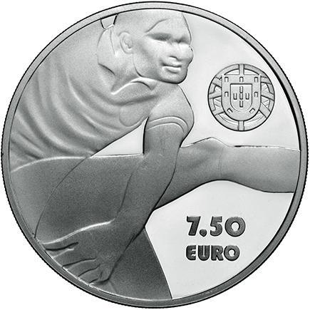 Portugal 7,50€ Eusébio Prata Proof 2016