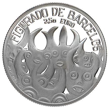 Portugal 2.50€ Figurado de Barcelos Prata Proof 2016
