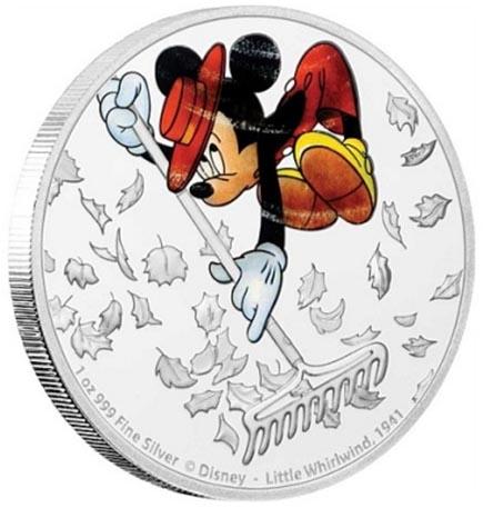 Niue $2 Mickey - O pequeno Remoinho 2017 - 1oz