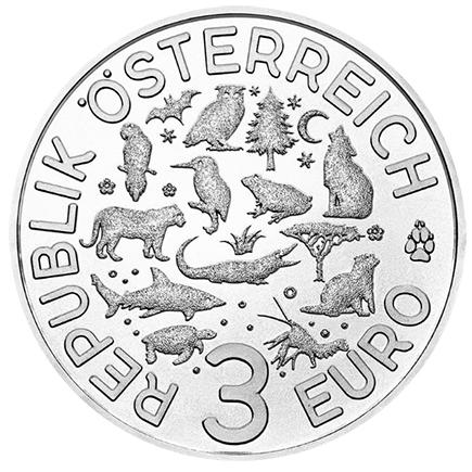 Áustria 3€ Guarda Rios 2017