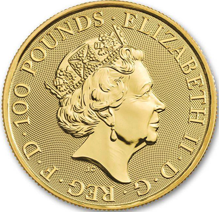 Inglaterra 100 Pounds Queen British Music Legends 1 oz. ouro 2020