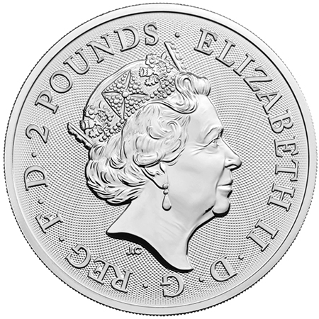 Inglaterra 2 Pounds Queen British Music Legends 1 oz. prata 2020