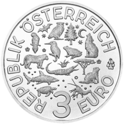 Áustria 3€ Tartaruga 2019