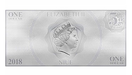 Niue 1 Dollar Aurora Nota de Prata 2018