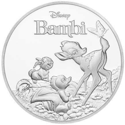 Niue 2 Dolares 75 Anos Bambi 2017 - 1oz