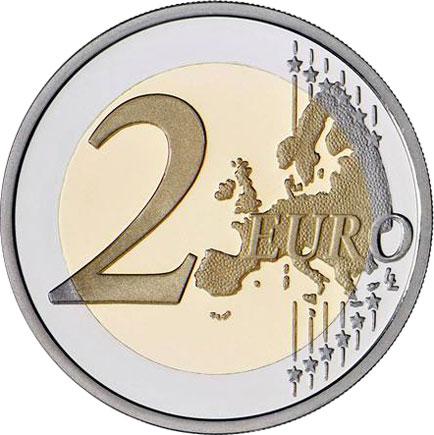Portugal 2€ 2015 - 30 Anos da Bandeira Europeia