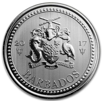 Barbados 1 Dollar Tridente  2017 - 1oz