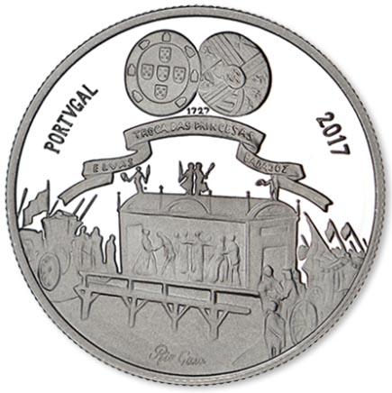 Portugal 5€ Maria Bárbara de Bragança 2017 Prata Proof