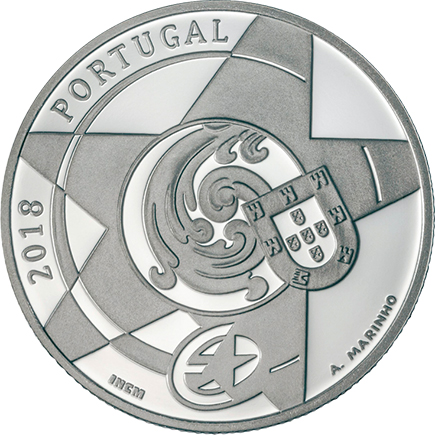 Portugal 5€ O Barroco Prata Proof 2018