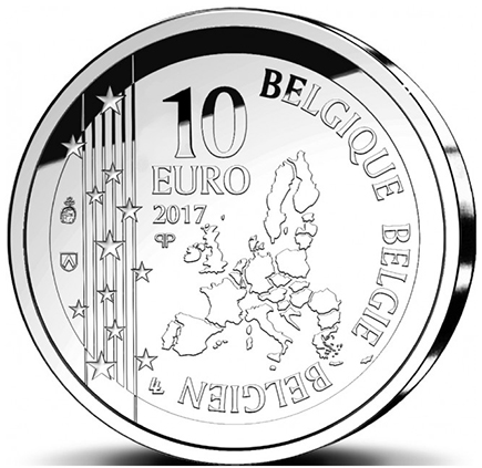 Bélgica 10€ 150 Anos do Till Eulenspiegel 2017