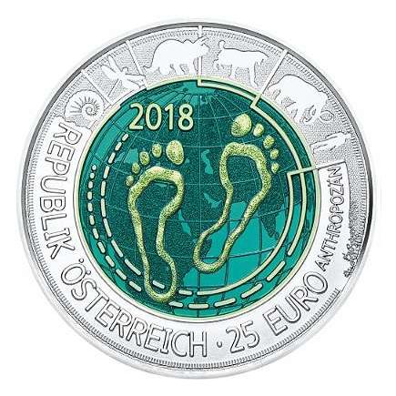 Áustria 25€ Antropoceno Niob 2018 Promoção Válida de 18/7 a 27/7 de 2018