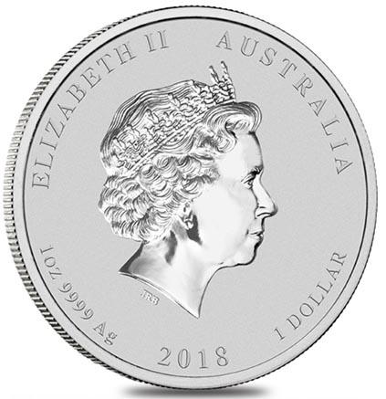 Austrália 1 Dollar Ano do Cão - 1oz 2018