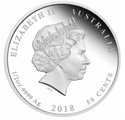 Austrália 50 Cents (1/2oz) Ano do Cão 2018