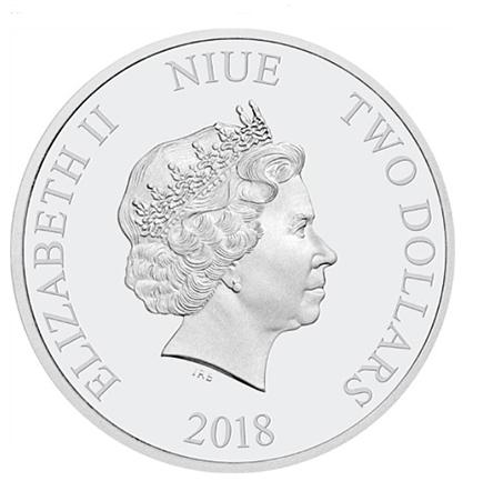 Niue 2$ Ano do Cão 2018
