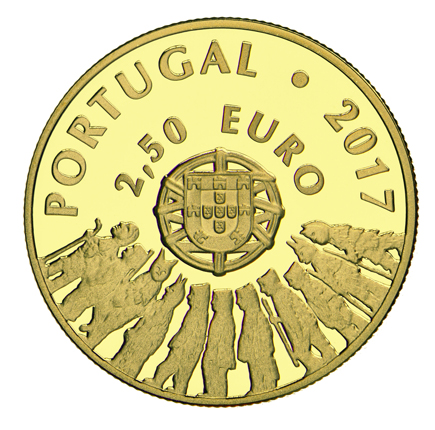 Portugal 2,5€ Caretos Trás-os-Montes Ouro Proof 2017