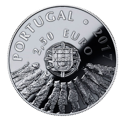 Portugal 2,5€ Caretos Trás-os-Montes Prata Proof 2017