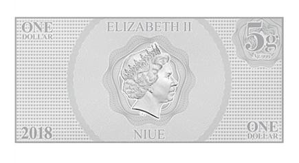 Niue 1 Dollar Cinderella Nota Prata