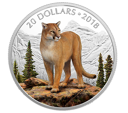 Canadá 20 Dollars Puma Corajosa 2018