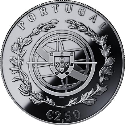 Portugal 2,5€ 100 Anos das Aparições de Fátima Prata Proof 2017