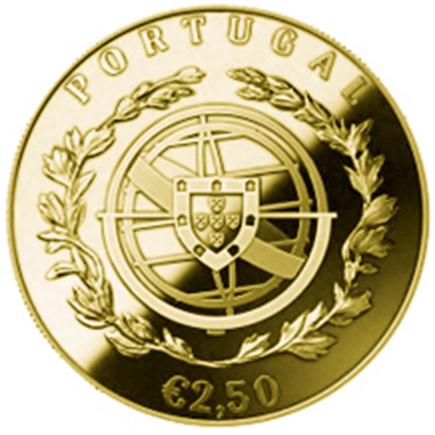 Portugal 2,5€ 100 Anos das Aparições de Fátima 2017 Ouro Proof