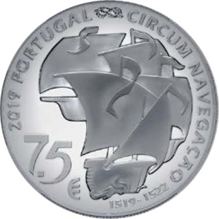 Portugal 7,5€ 500 Anos da Viagem de Circum-Navegação de Fernão de Magalhães 2019