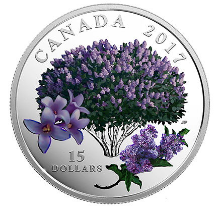 Canadá $15 Flores Lilases 2017