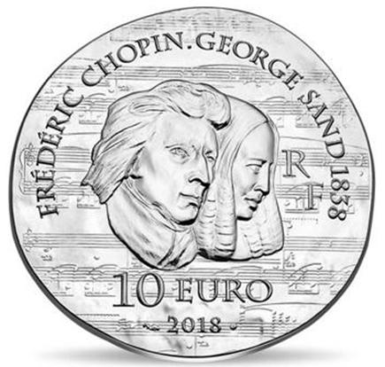 França 10€ George Sand 2018