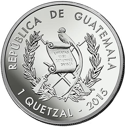 Republica de Guatemala 1 Quetzal 2015