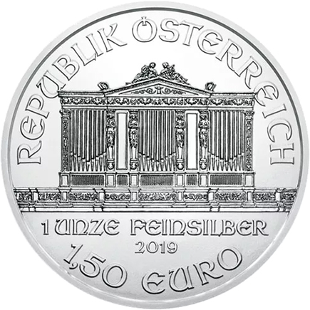 Áustria 1,5€ Philarmonica 2019 - 1oz