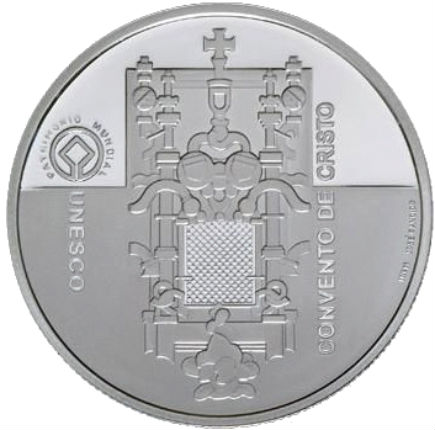 Portugal 5€  Convento de Cristo em Tomar Prata Proof 2004