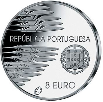Portugal 8€ Fim 2ª Guerra Mundial Proof  2005