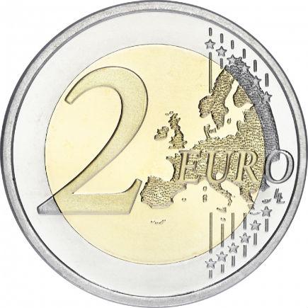 Letónia 2€ 2015 -  30 anos da Bandeira Europeia