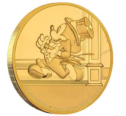 Niue $2.5 Mickey está Atrasado Ouro 2017