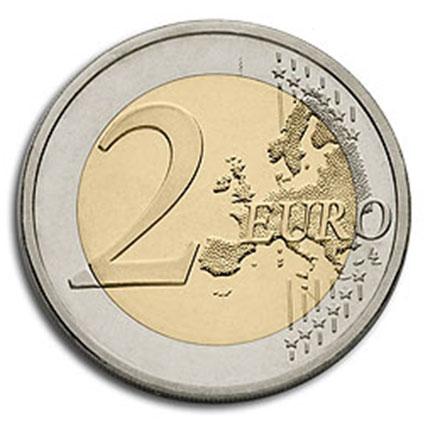 Malta 2€ Templo de Hangar - Marca de Emissão F