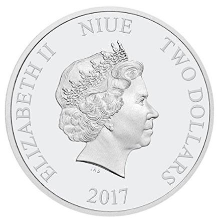 Niue 2$ Grandes Cidades - Nova York 2017 - 1oz