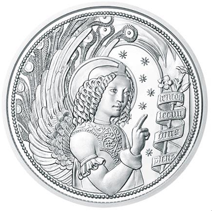 Áustria 10€ Arcanjo Gabriel Proof 2017