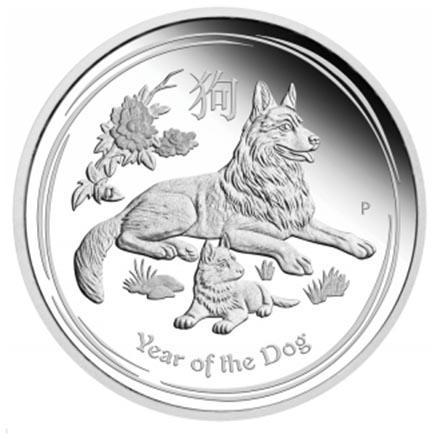 Austrália Set 3 moedas Ano do Cão 2018