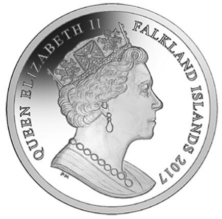 Falkland Islands 1 Crown alusiva Para não esquecer a Papoila 2017