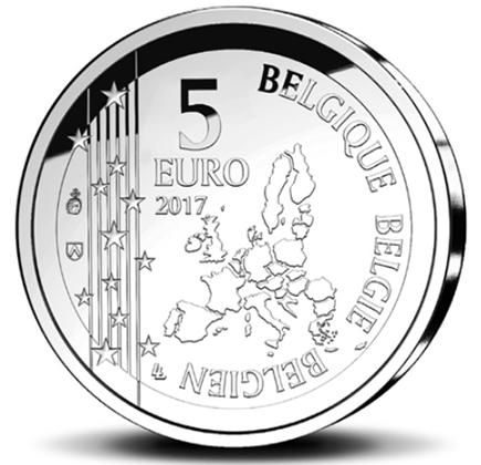 Bélgica 5€ 60 anos Gaston La Gaffe 2017