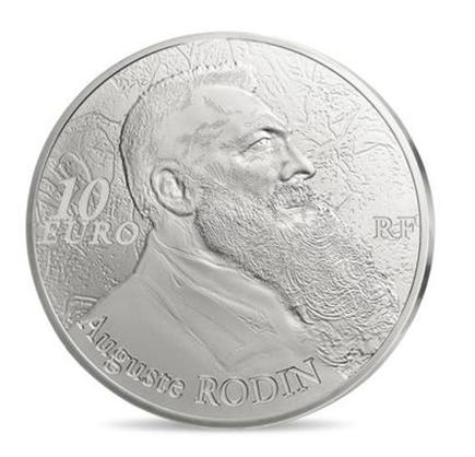 França 10€ A 7ª Arte- August Rodin 2017