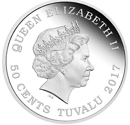 Tuvalu 50 Cents Lontra Bebé