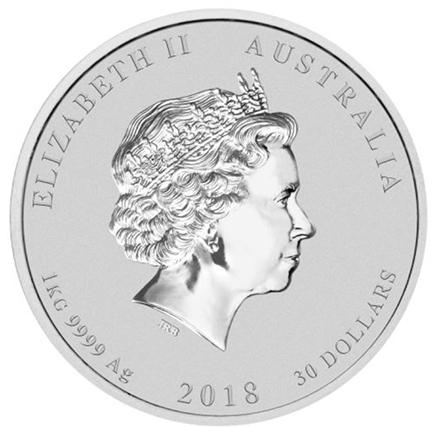 Austrália 1$ Ano do Cão Colorido 2018 (1oz)